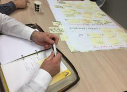 atriumfibrilleren brainstormsessie en opschrijven van ideeen
